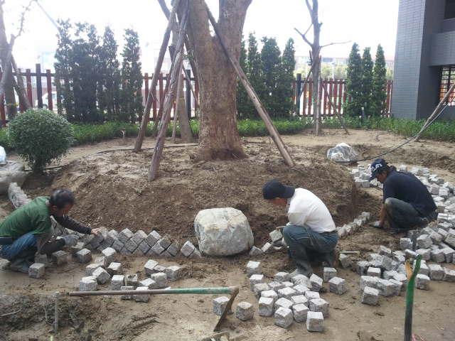 中庭景觀施工