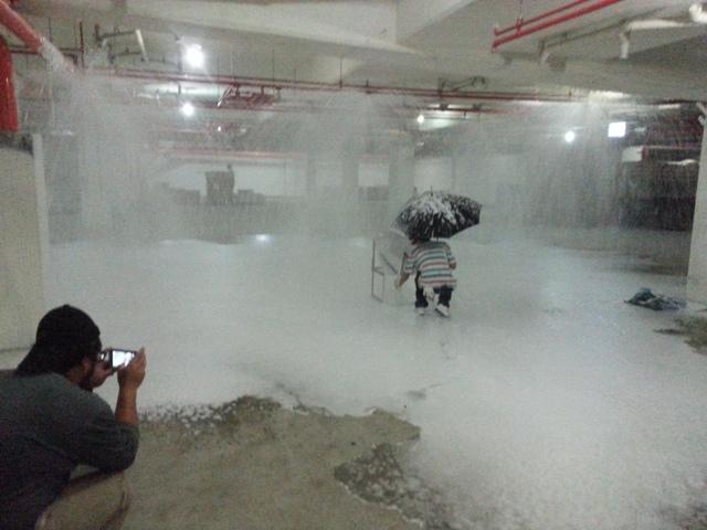 地下室泡沫測試