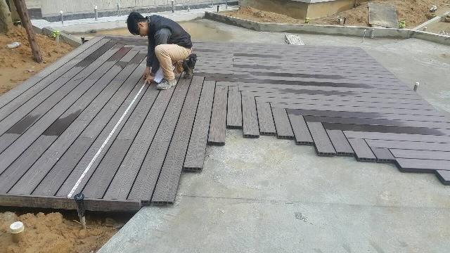 塑木平台測量