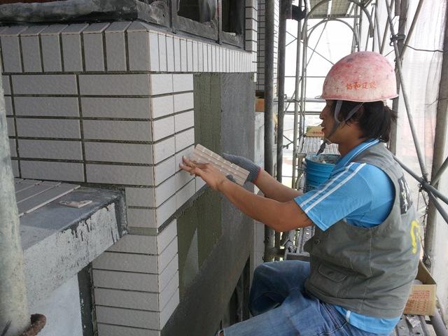 外牆丁掛磚施工