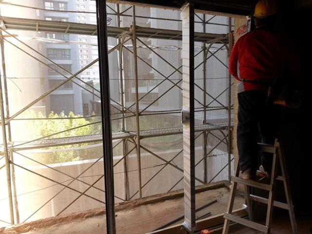 外牆鋁窗按裝