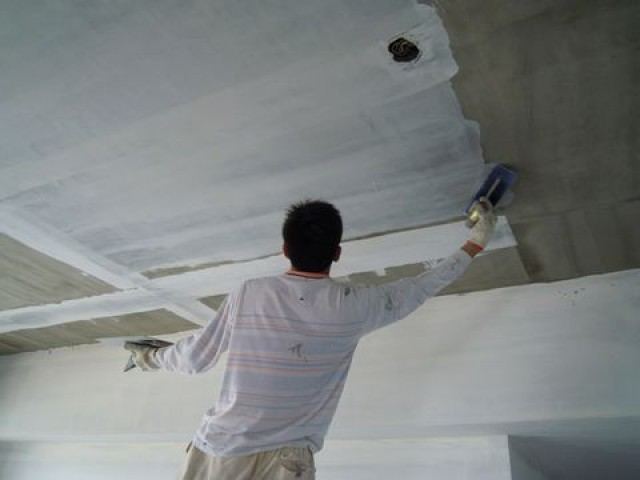 天花板批土