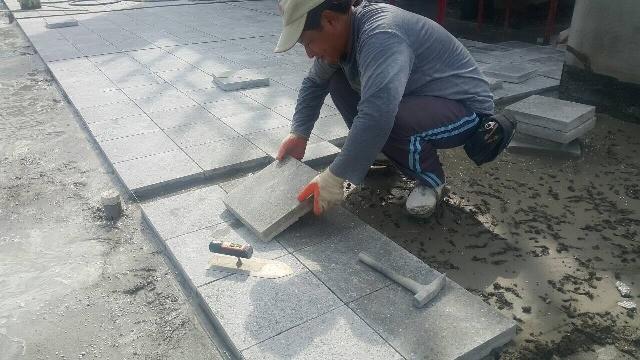 屋頂隔熱磚施工