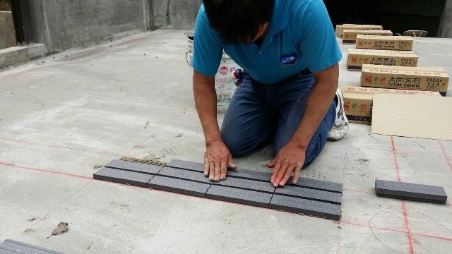 車道地磚施工