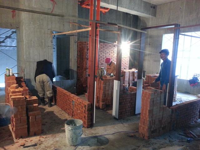 隔間砌磚施工